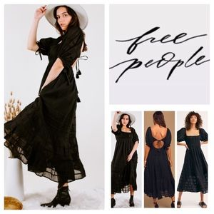 Free People Let's Be Friends Midi Dress.  NWT.